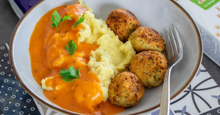 DM bio ručak: falafel i pire krompir sa paradajz-sosom