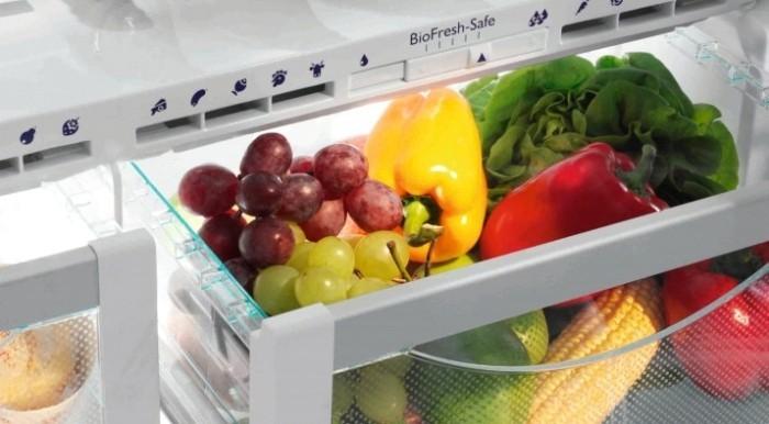 Зона свежести, фрукты и овощи