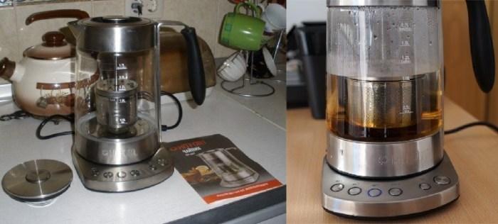 Чайник с регулировкой температуры Kitfort