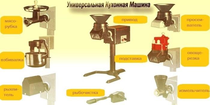 Насадки универсальной кухонной машины