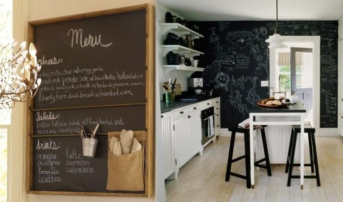 Доски для записей на кухне