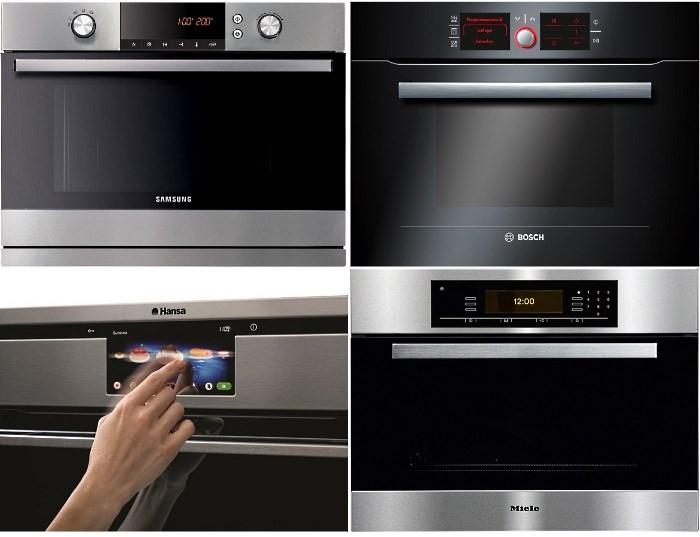 Духовые шкафы с СВЧ Samsung, Bosch, Hansa, Miele