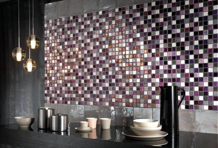 Модная мозаика в отделке кухни