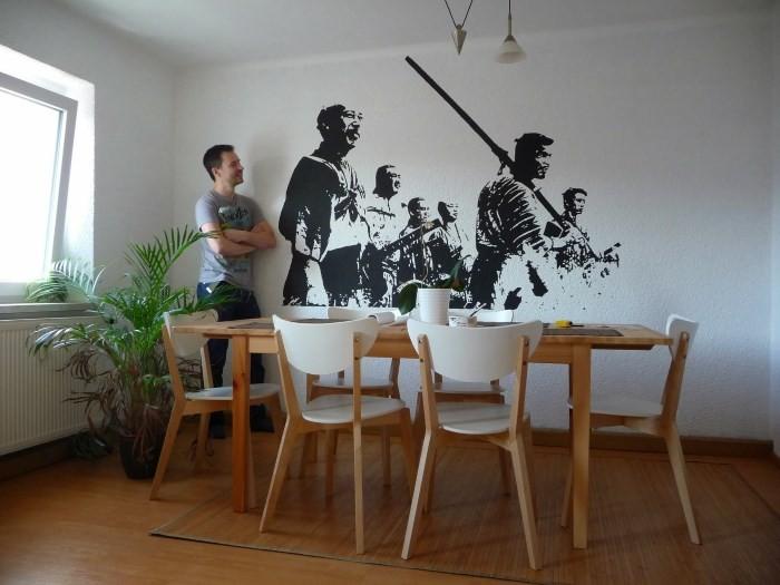 Аппликация на кухонной стене