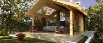 Летняя кухня на дачном участке: от проекта до устройства кровли и дизайна