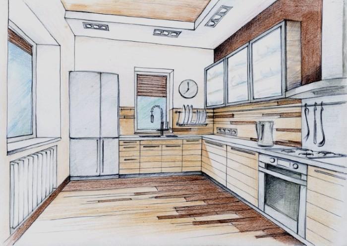Рисунок кухни