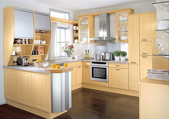 Оформление кухни в светлых тонах
