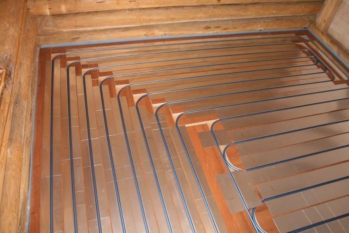 Теплый пол на деревянном основании