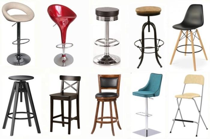 Многообразие барных стульев