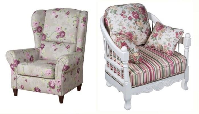 Кресла прованс с цветочным рисунком