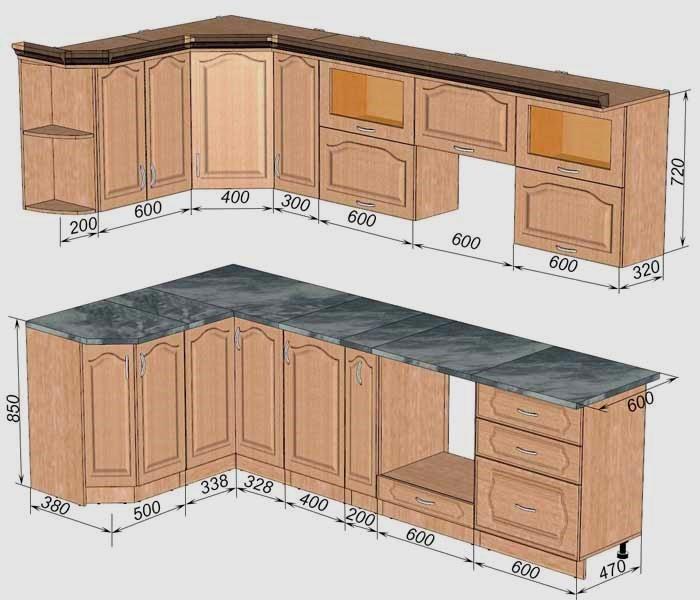 Стандартные размеры кухонных шкафов (73 фото): стандарт высоты верхних и глубины нижних шкафов кухни