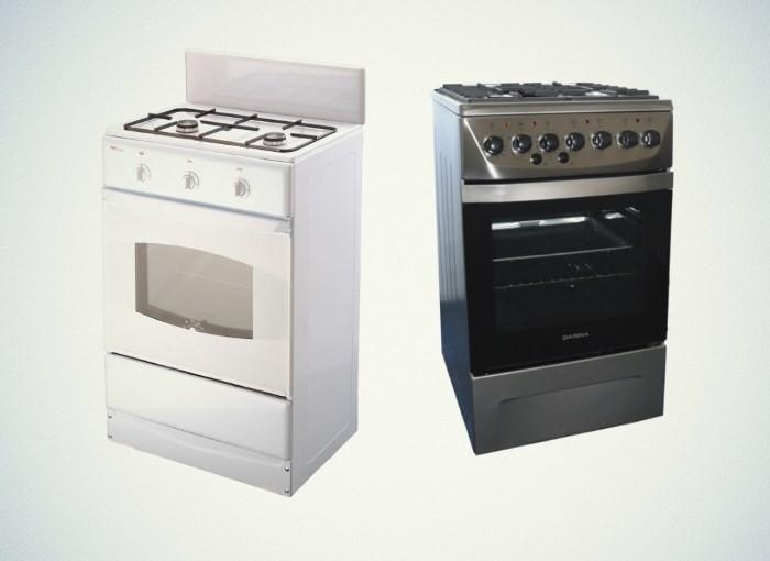 Напольные двухконфорочные газовые плиты
