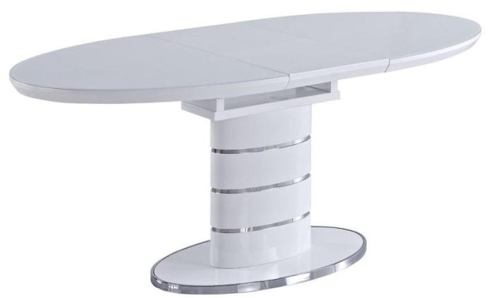 Овальный стол на одной ножке
