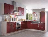Галерея кухонь бордового цвета, часть 2