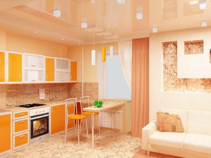 Совмещение кухни и комнаты