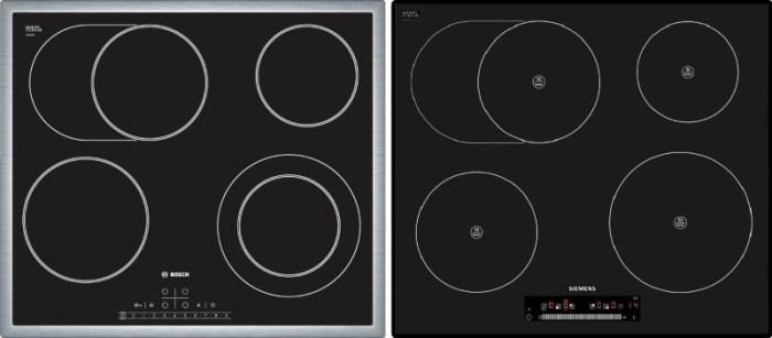 Стеклокерамические поверхности Bosch и Simens