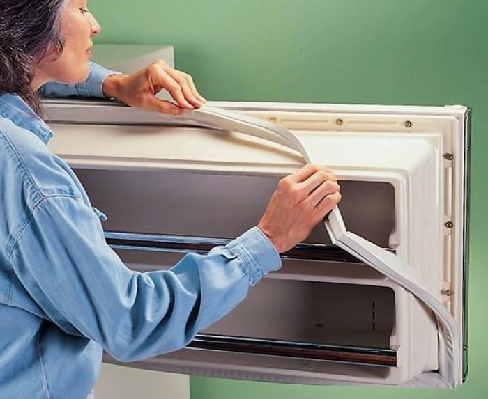 Замена уплотнителя холодильника