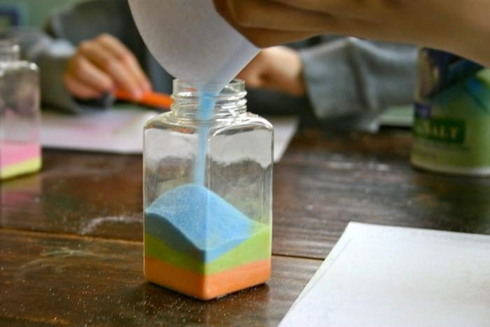 Декор банок цветной солью