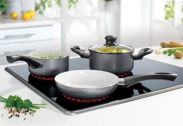 Эмалированная индукционная посуда
