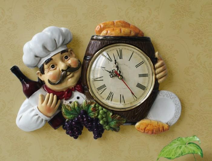 Настенные кухонные часы с поваром