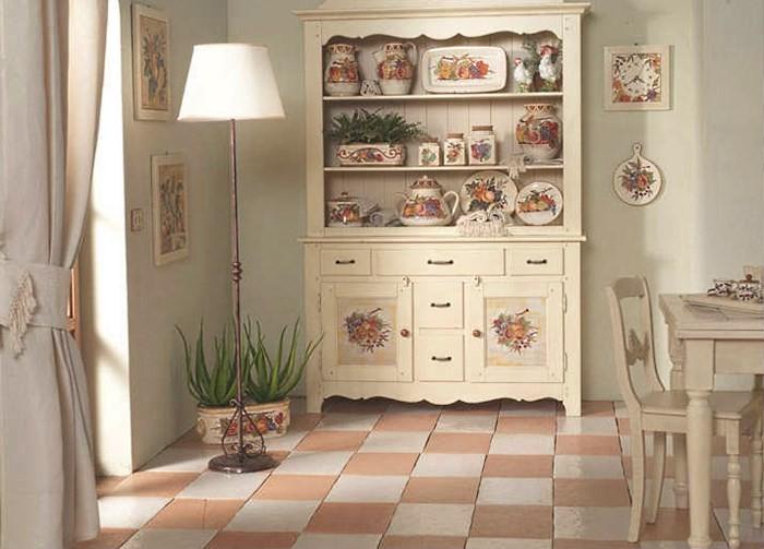 Мебель на кухне в стиле прованс