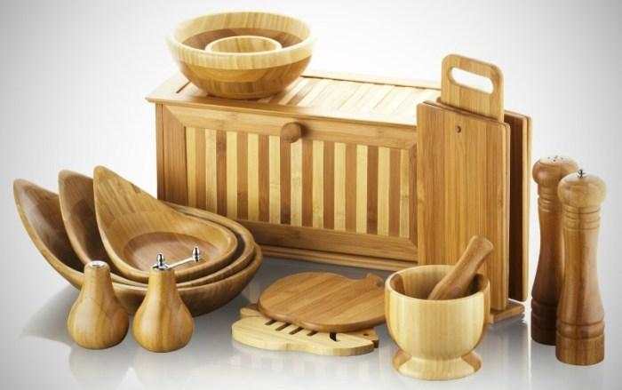 Кухонная утварь из бамбука