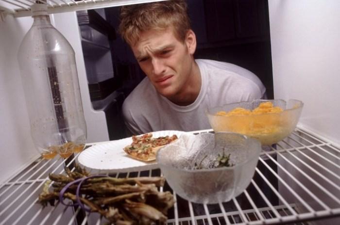 Причина запаха в холодильнике: открытые продукты
