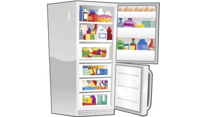 Нарисованный холодильник