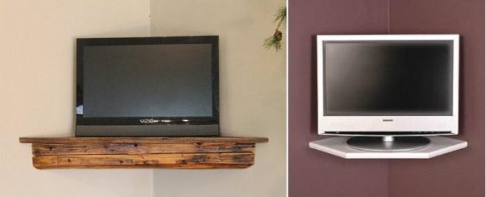 Образцы полок под телевизор