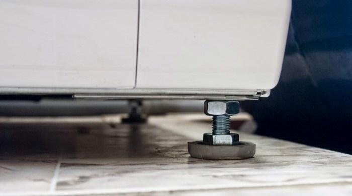 регулировка ножек стиральной машины
