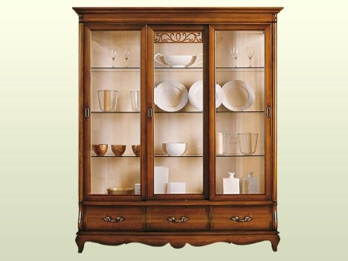 шкаф для посуды со стеклом и без на кухню и в гостиную
