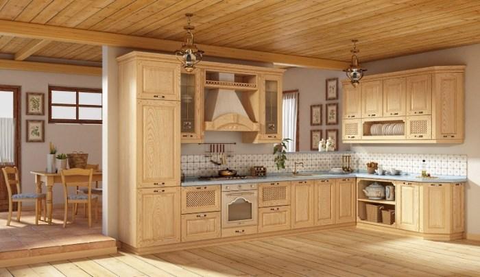 Кухня из дубового массива