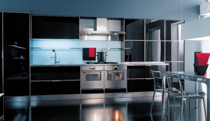 Дизайн кухни из стекла