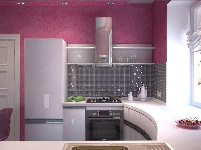 П образная расстановка мебели на маленькой кухне
