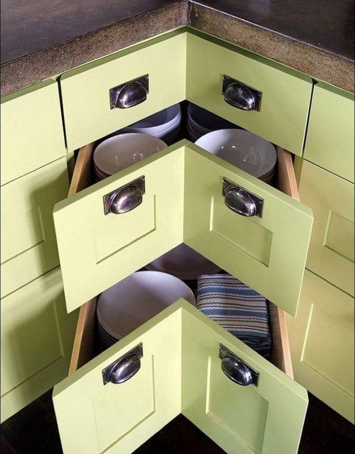 Угловые ящики