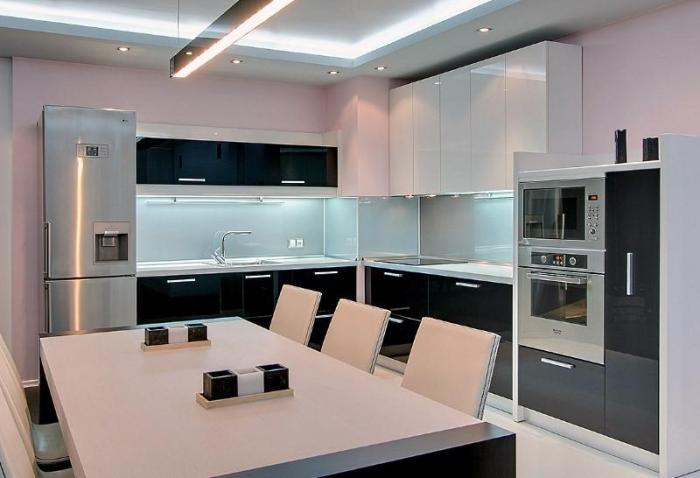 кухня 11 метров хай тек