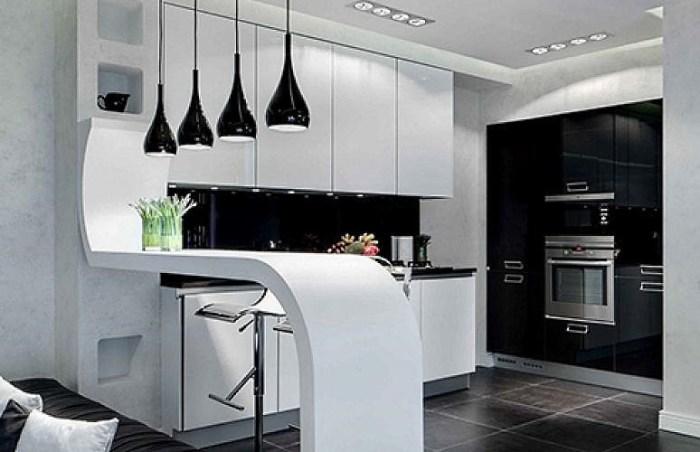 кухня 14 метров в стиле хай тек