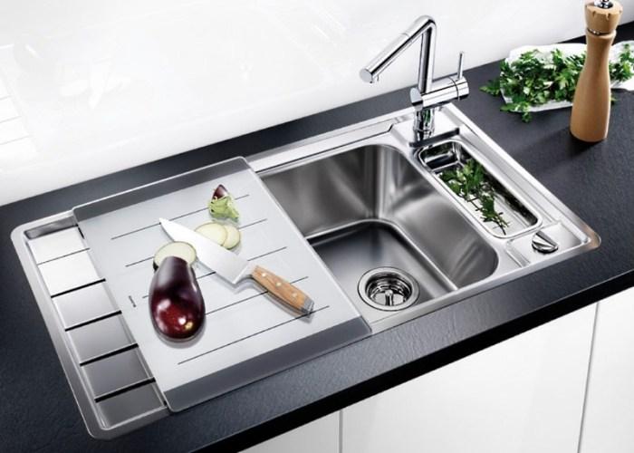 Раковина для кухни с крылом