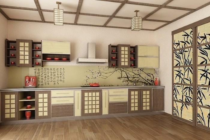 Кухня восходящего солнца – секрет создания интерьера в японском стиле