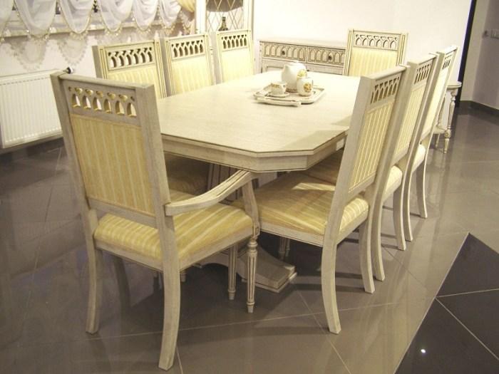 Деревянный белый стол