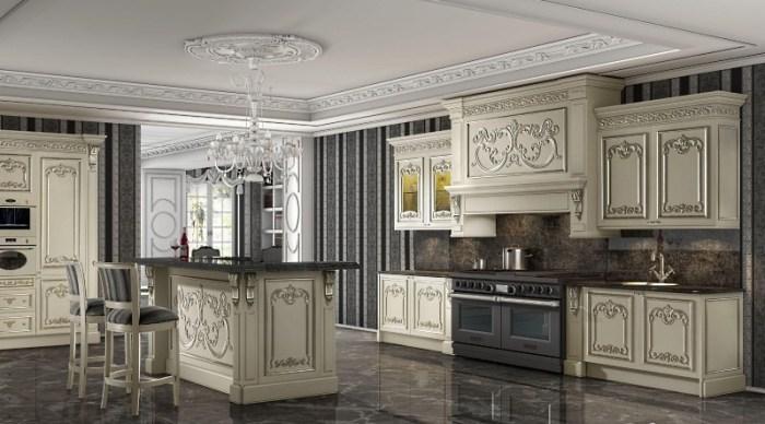 Интерьер кухни в стиле барокко