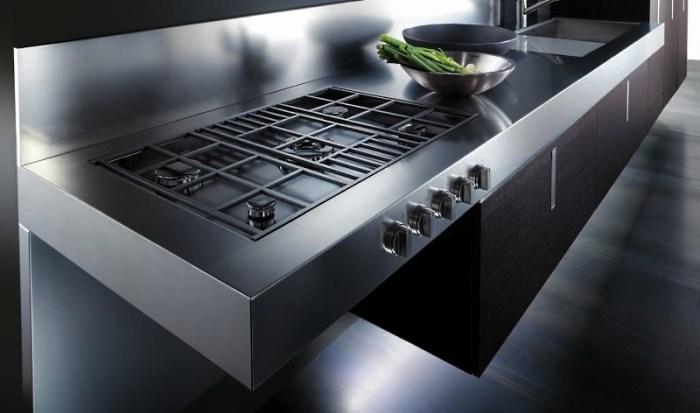 Кухня со встроенной плитой