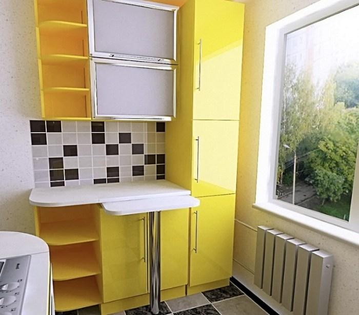 Мебель на кухне 4 метра