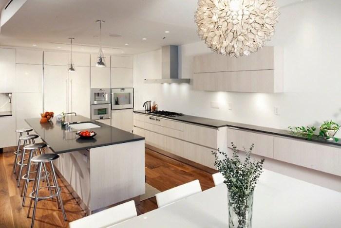стильный свет на кухне