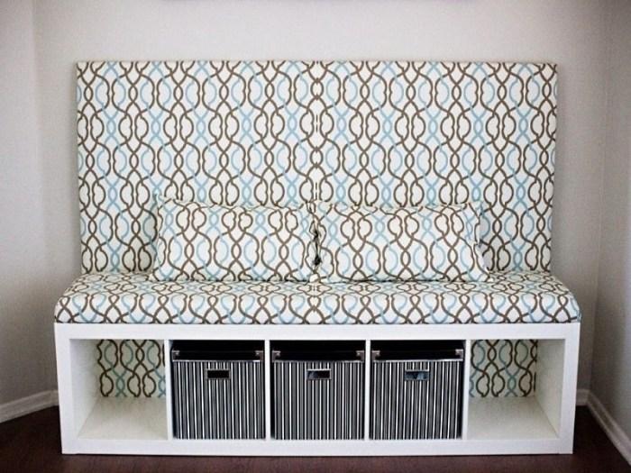 диван для кухни с ящиками