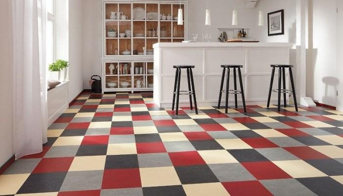 Линолеум-плитка для кухни