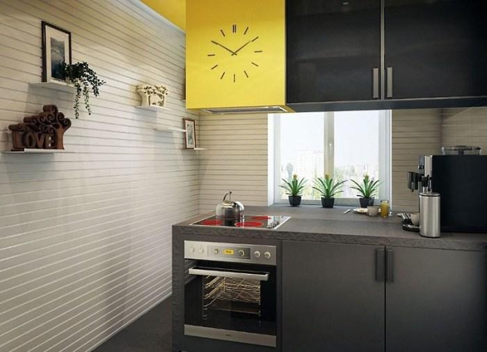 Влагостойкие стеновые панели на кухне