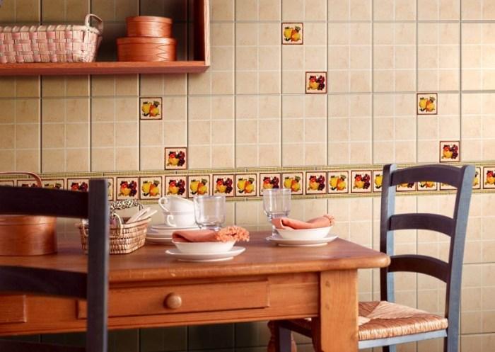 Бежевая плитка для кухни