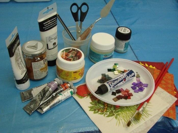 Материалы для декупажа стола