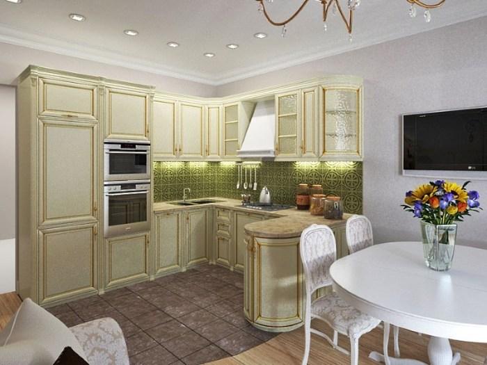 кухня 17 метров с угловой планировкой